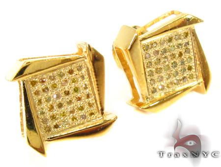 Boomerang Silver Diamond Earrings 27636 Metal