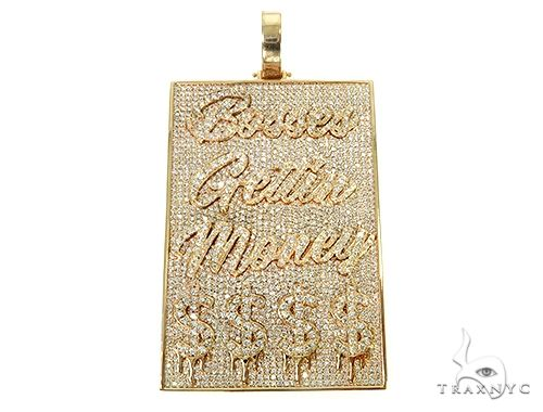 Bosses Gettiin Money Diamond Pendant 66086 Metal