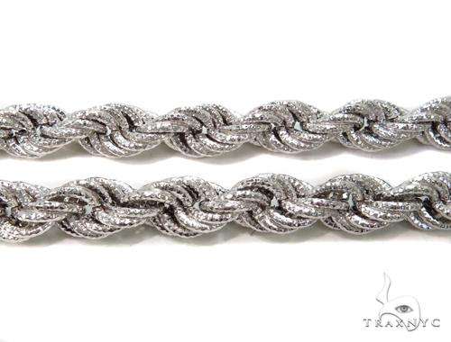 Twist Silver Chain 36 Inches 10mm 113 Grams-40080 Silver