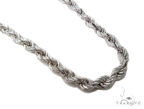 Twist Silver Chain 36 Inches 15mm 170 Grams-40081 Silver