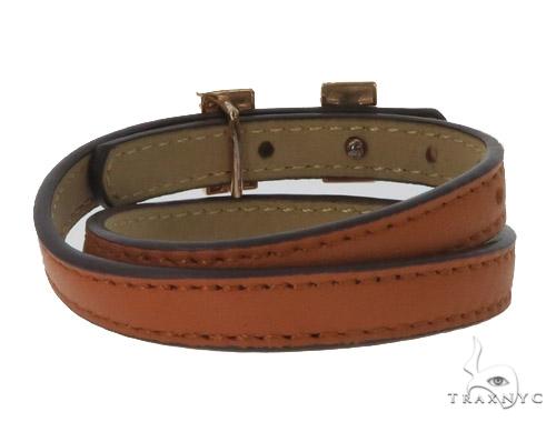 Brass CZ Initial H Bracelet 45595 Silver