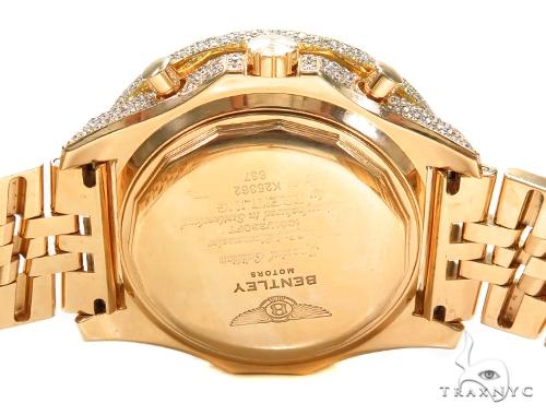 Breitling Bentley Fully Iced 18K Gold Diamond Watch 42924 Breitling