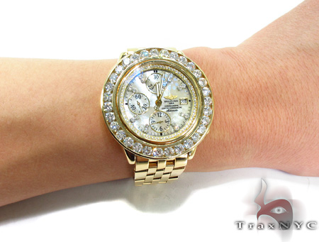 Breitling Diamond Bezel Yellow Gold Watch Breitling