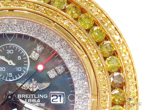 Breitling Custom Super Avenger Diamond Watch 45221 Breitling