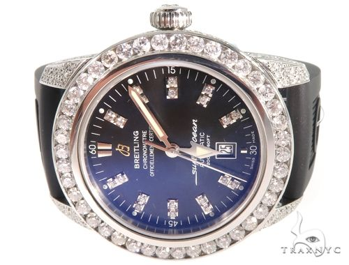 Breitling Diamond Superocean Automatic Watch 64043 Breitling