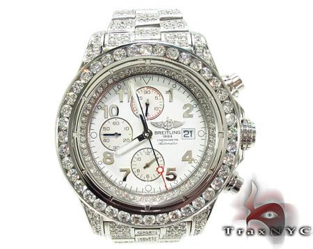 Breitling Super Avenger Fully Diamond Watch 28195 Breitling