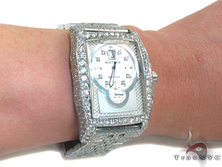 Fully Iced Breitling Bentley Flying B Mens Watch Breitling