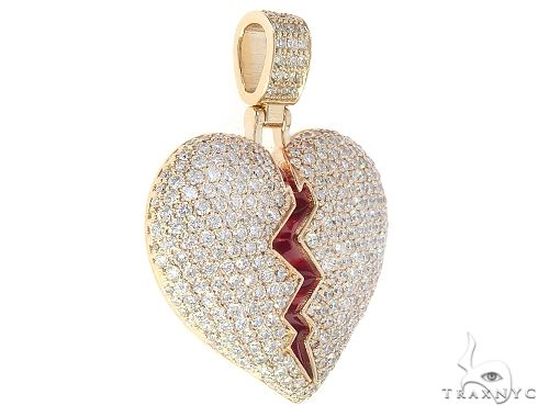 Broken Heart With Red Enamel 65531 Stone