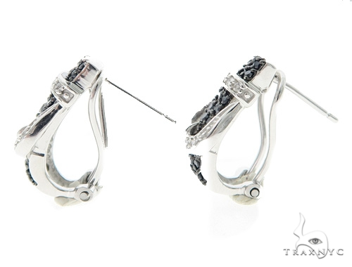 Buckle Silver Earrings 49824 Metal