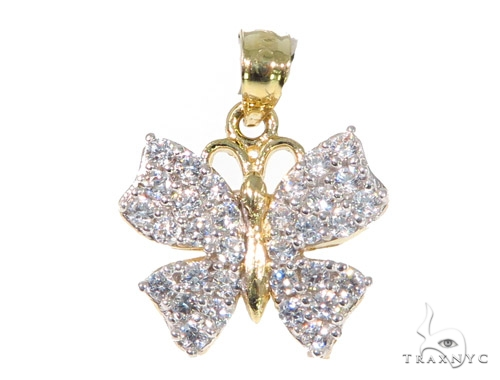 Butterfly Gold Pendant 44936 Metal