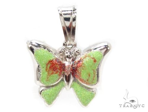 Butterfly Silver Pendant 36349 Metal