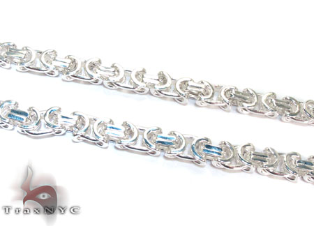Byzantine Silver Chain 26 Inches 8mm 85.0 Grams Silver