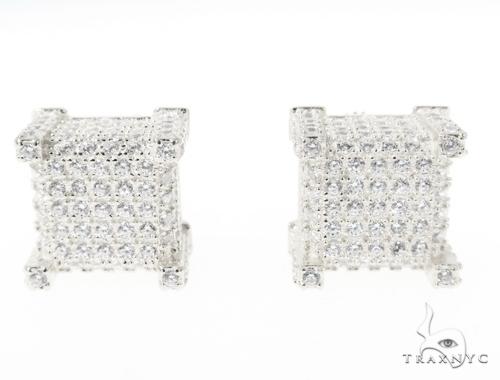 CZ  Silver Earrings 49052 Metal
