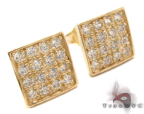 CZ 10K Gold Earrings 34239 Metal