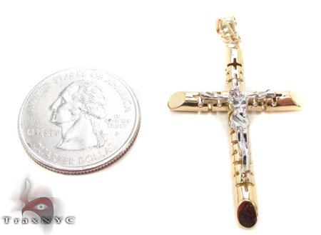 CZ 10K Gold Cross Crucifix 33638 Gold