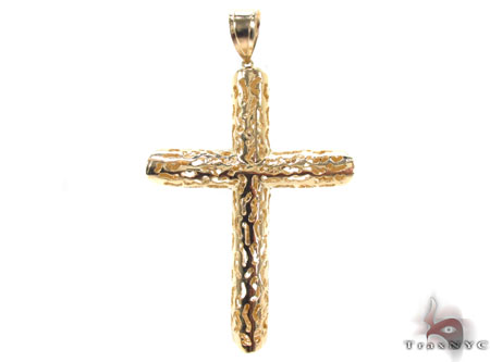CZ 10K Gold Cross Crucifix 33642 Gold