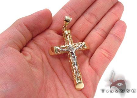 CZ 10K Gold Cross Crucifix 33643 Gold