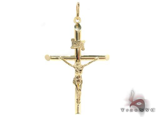 CZ 10K Gold Cross Crucifix 34069 Gold