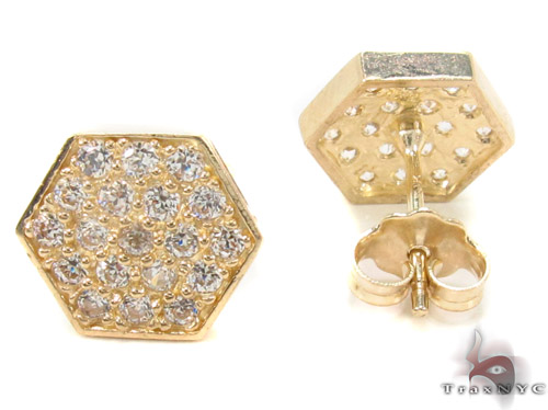 CZ 10K Gold Earrings 33247 Metal