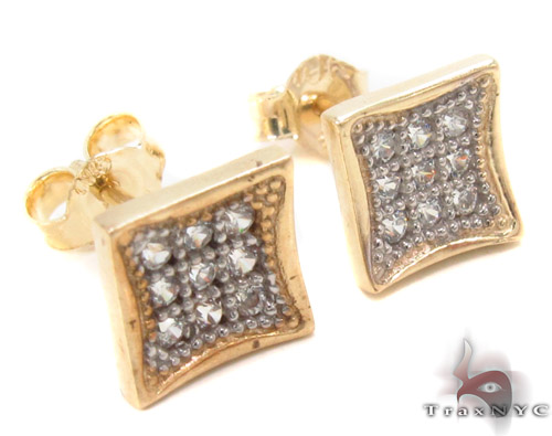 CZ 10K Gold Earrings 33248 Metal