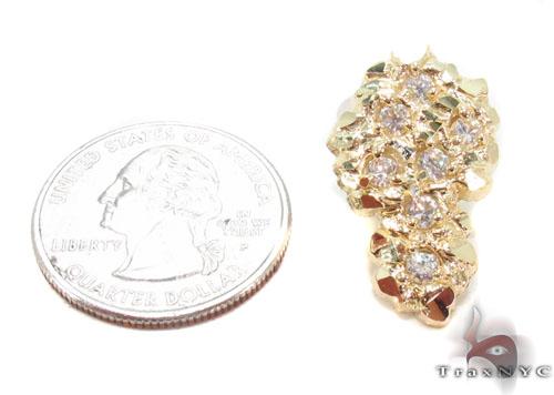 CZ 10K Gold Earrings 34180 Metal