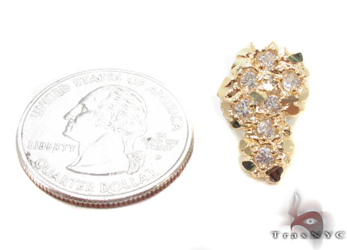 CZ 10K Gold Earrings 34181 Metal