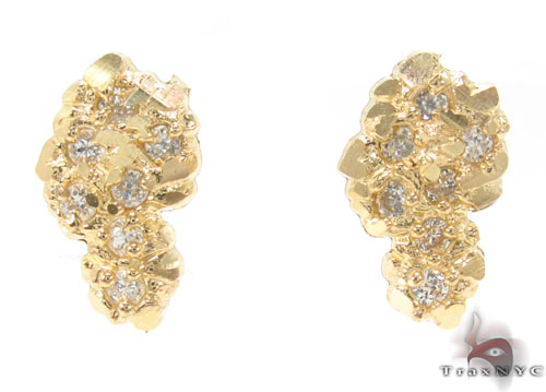 CZ 10K Gold Earrings 34182 Metal