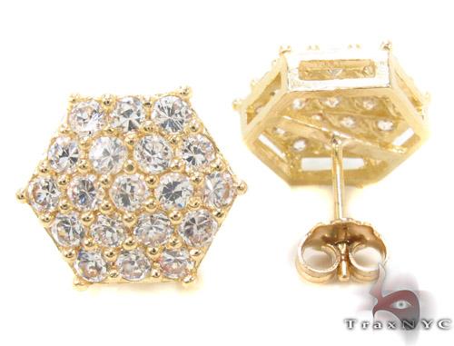 CZ 10K Gold Earrings 34235 Metal