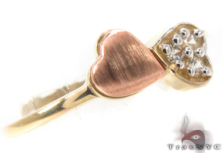 CZ 10K Gold Heart Ring 33578 Anniversary/Fashion