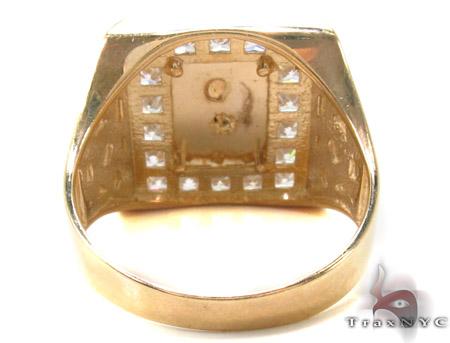 CZ 10K Gold Jesus Ring 33259 Metal
