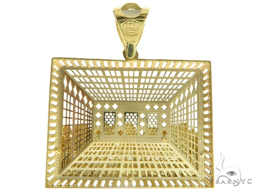 CZ 10K Gold Last Supper Pendant 33654 Metal