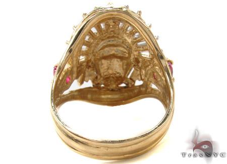CZ 10K Gold Indian Head Ring 33258 Metal