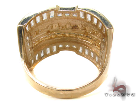 CZ 10K Gold Last Supper Ring 33257 Metal