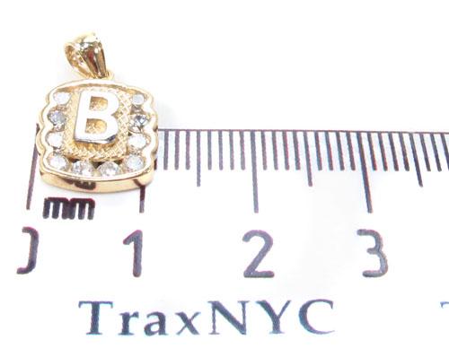 CZ 10K Gold Pendant 34825 Metal