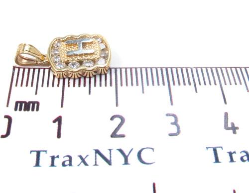 CZ 10K Gold Pendant 34831 Metal