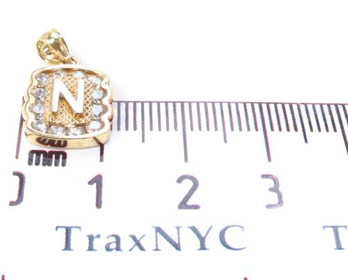 CZ 10K Gold Pendant 34837 Metal