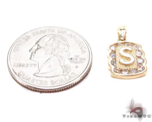 CZ 10K Gold Pendant 34841 Metal