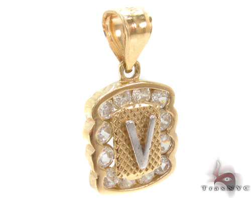 CZ 10K Gold Pendant 34843 Metal