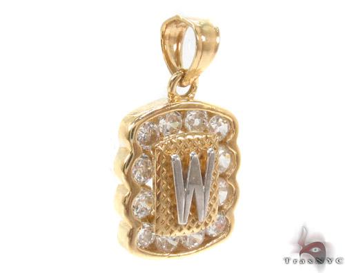 CZ 10K Gold Pendant 34844 Metal