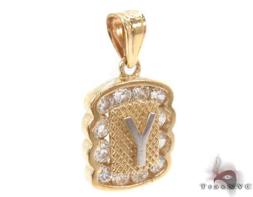 CZ 10K Gold Pendant 34845 Metal