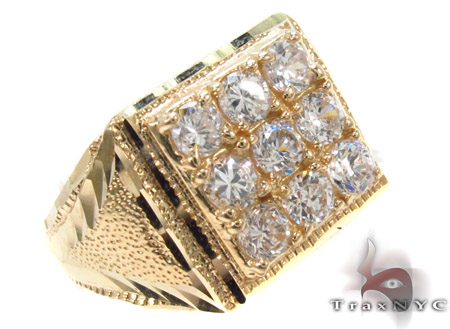CZ 10K Gold Ring 33252 Metal
