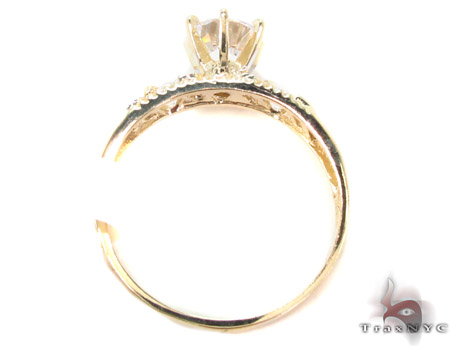 CZ 10K Gold Ring 33598 Anniversary/Fashion