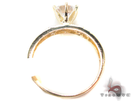 CZ 10K Gold Ring 33608 Anniversary/Fashion