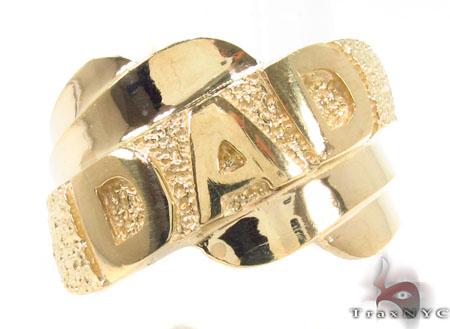 10K Yellow Gold Dad Ring 33301 Metal