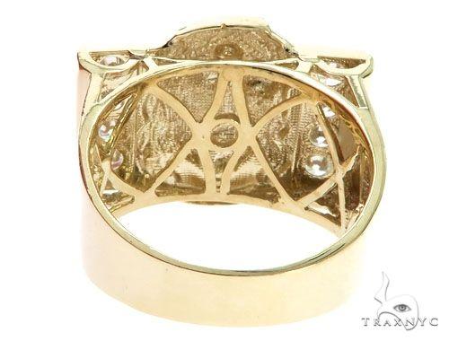 CZ 10K Two Tone Gold Jesus Face Ring Metal
