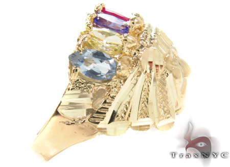 CZ 10K Yellow Gold Ring 33295 Metal