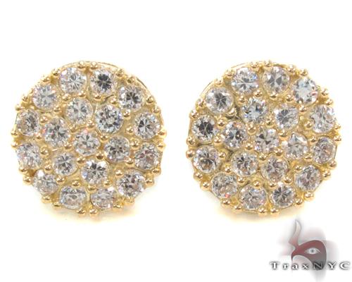 CZ 10K Gold Earrings 34220 Metal