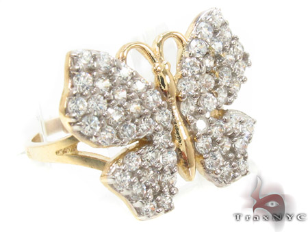 CZ 10k Gold Butterfly Ring 33545 Anniversary/Fashion