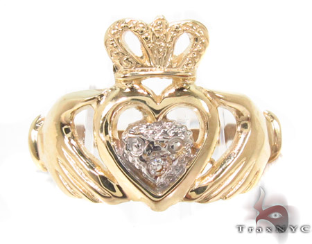 CZ 10k Gold Heart Ring 33543 Anniversary/Fashion