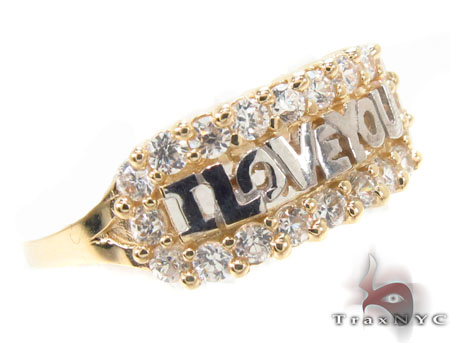 CZ 10k Gold I Love You Ring 33529 Anniversary/Fashion